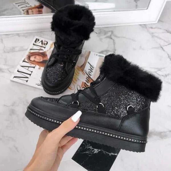 Черные зимние ботинки фото №1