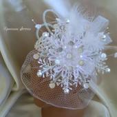Роскошная Снежинка-вуалетка