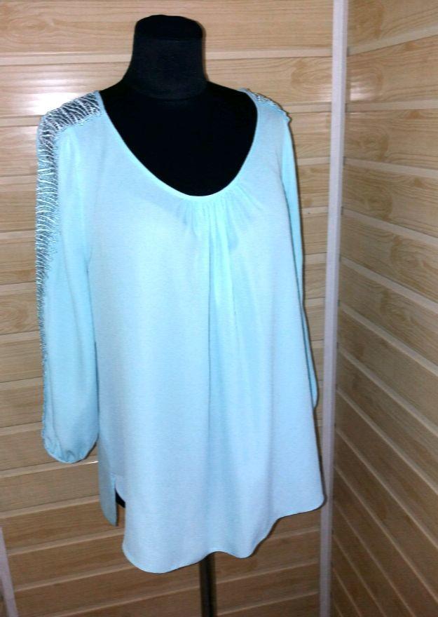 1a6c93099fc Бомбезная бирюзовая блуза р.m-l wallis