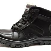 Ботинки стильные мужские с меховым утеплителем (РС-14п)