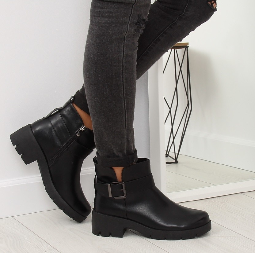 Черные ботинки деми фото №1