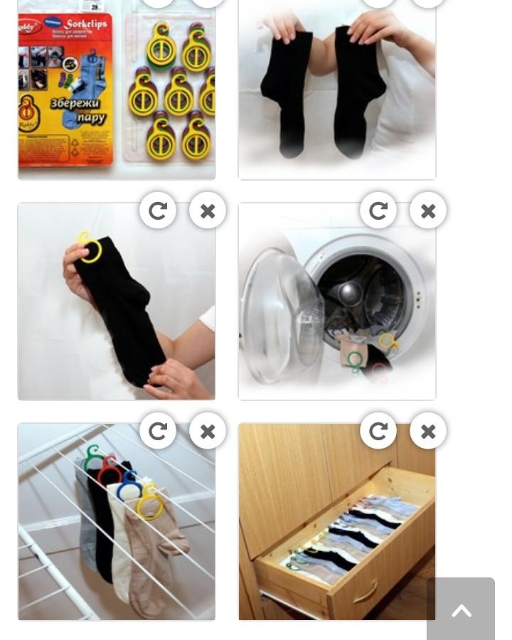 Клипсы для носков 28 шт фото №1