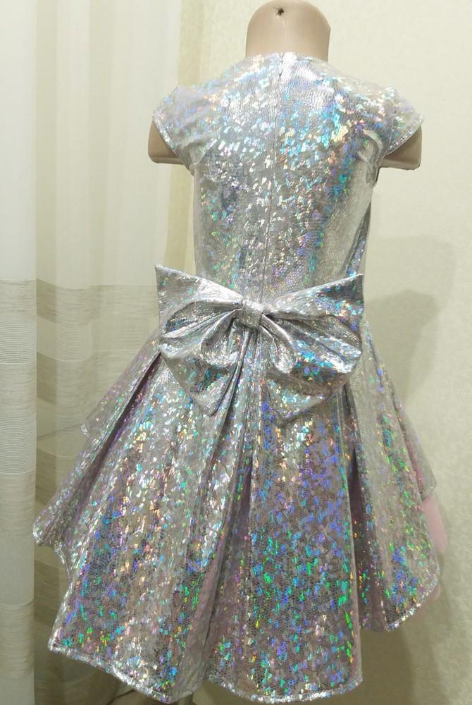 Нарядное платье галлограмма фатин бант от производителя 104-134 фото №1
