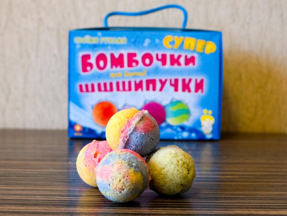 Супер-бомбочки для ванной шипучки фото №1