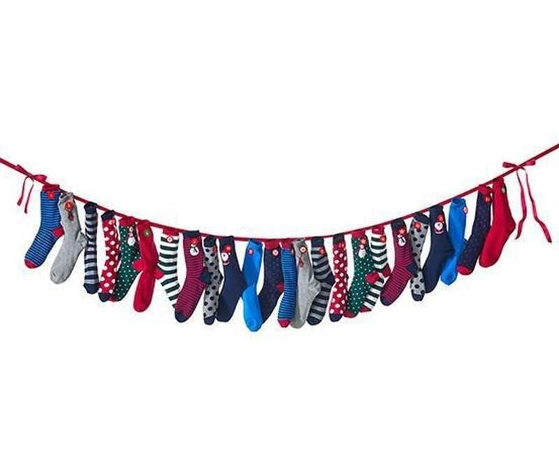 Яркий рождественский набор носков 12 пар от тсм tchibo (чибо), германия, р.35-37  фото №1