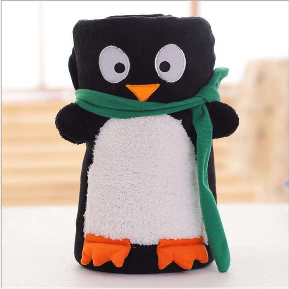 Новогодний плед, детский. пингвин фото №1