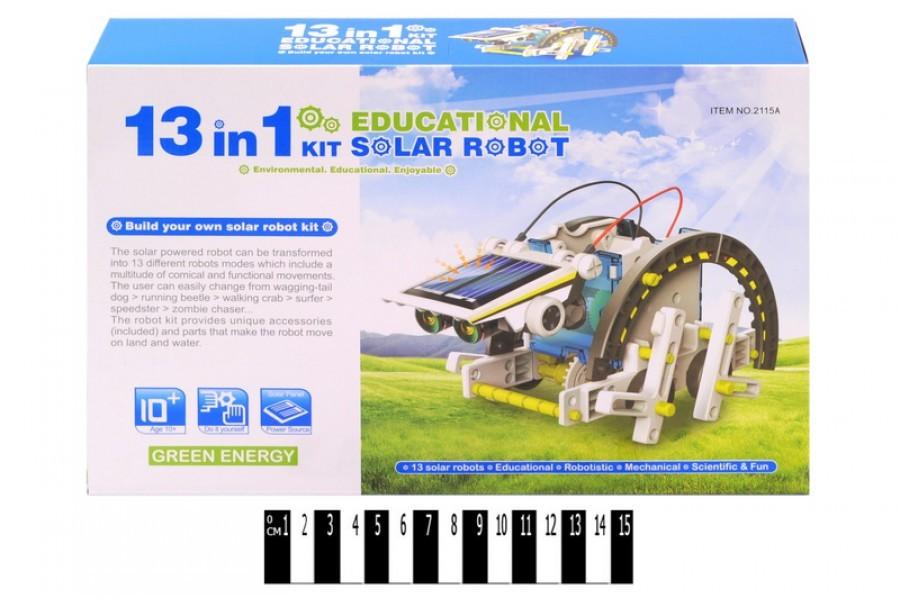 Конструктор робот машина 13 в 1 на солнечных батареях 2115a фото №1