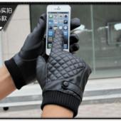 Очень теплые перчатки мужские для сенсорных экранов код 102
