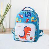 Детский рюкзак, голубой. Маленький динозаврик