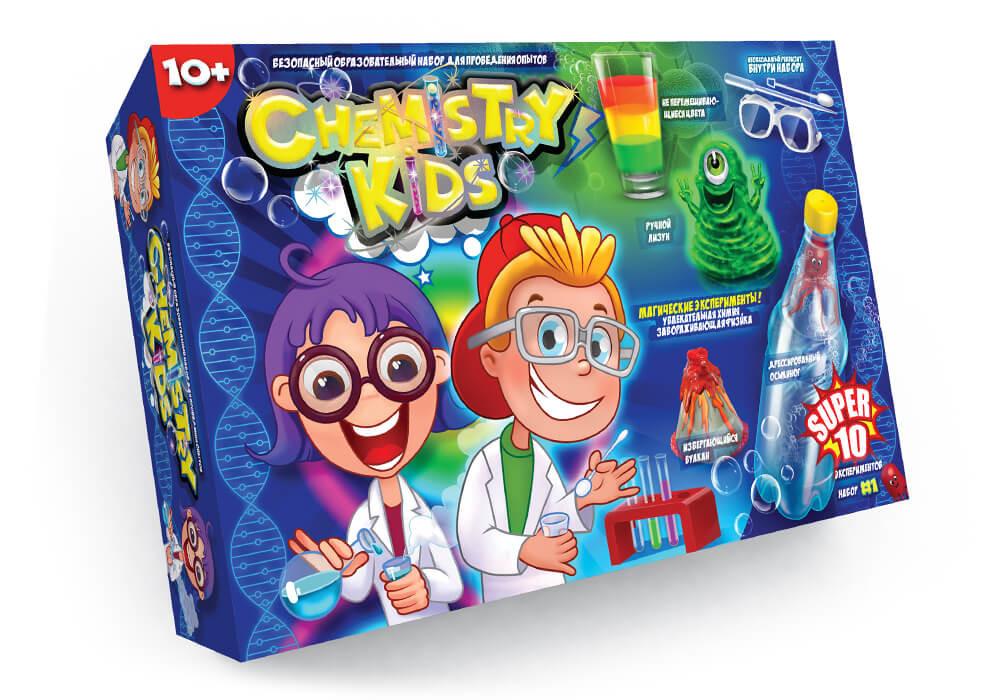 "Набор опытов ""chemistry kid's"" №1- 10 опытов (997) фото №1"