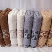 Лицевое полотенце Лабиринт, 100*50см, лот 1шт. Плотное.Турция