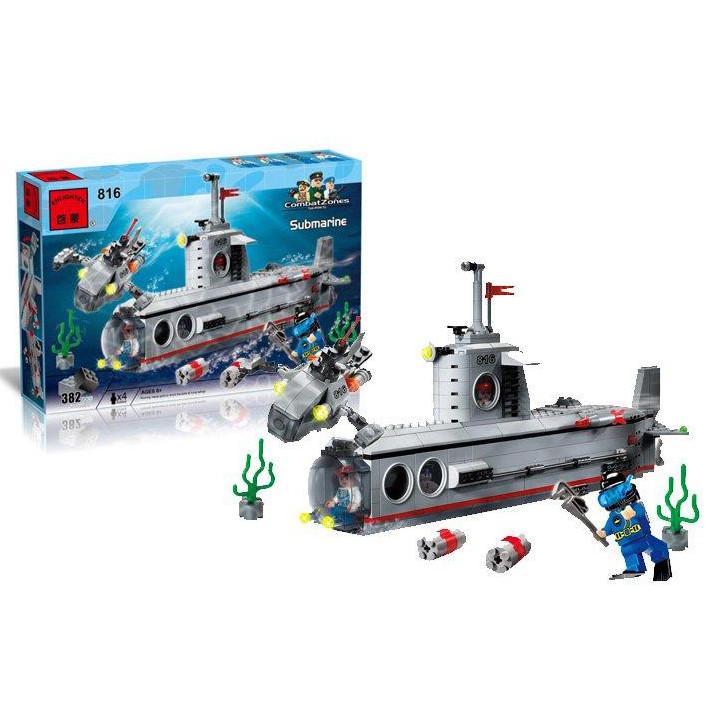 Брик 816 субмарина подводная лодка конструктор brick enlighten combat zones фото №1
