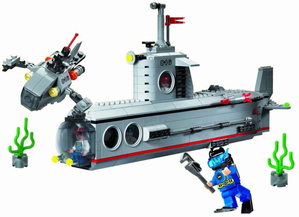 Брик 816 субмарина подводная лодка конструктор brick enlighten combat zones фото №2