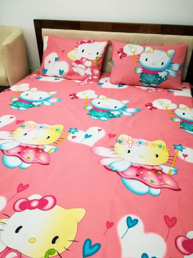 Hello kitty детский постельный комплект яркая милая расцветка! отличное качество! фото №1