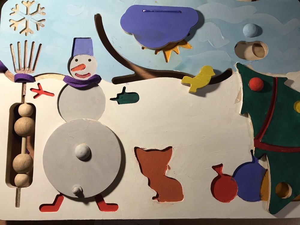 Бизиборд-раскраска фото №1