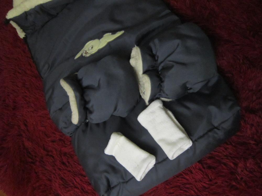 Теплый конверт- трансформер на овчине в коляску/санки от рождения до 3 лет фото №14