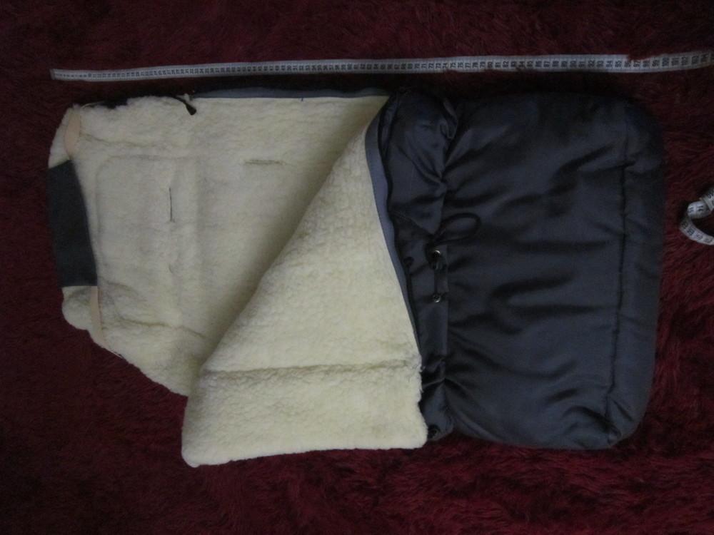 Теплый конверт- трансформер на овчине в коляску/санки от рождения до 3 лет фото №3