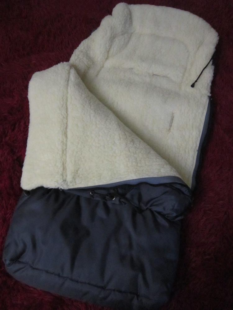 Теплый конверт- трансформер на овчине в коляску/санки от рождения до 3 лет фото №5