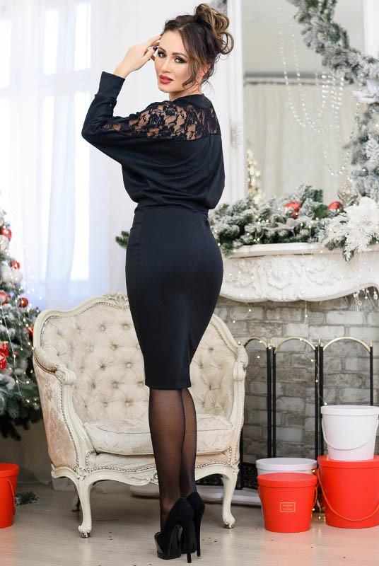 Платье с кружевом альберта до р. 60 фото №4