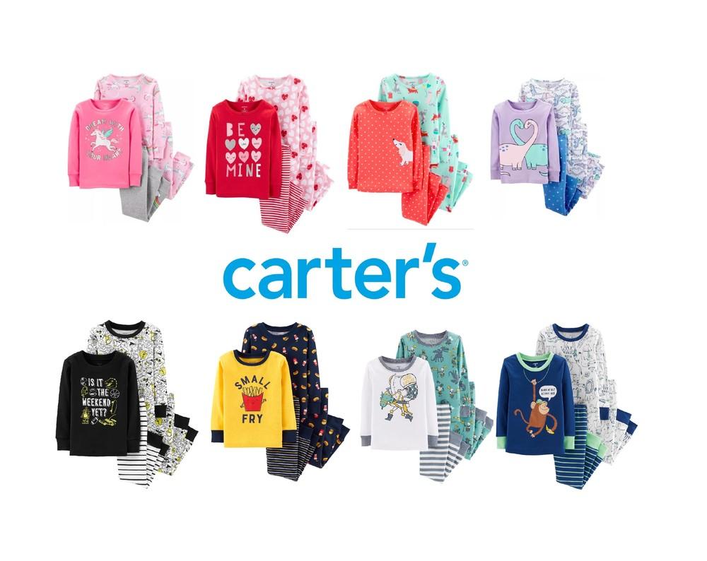 Пижама carters набор 2 шт хлопок фото №1