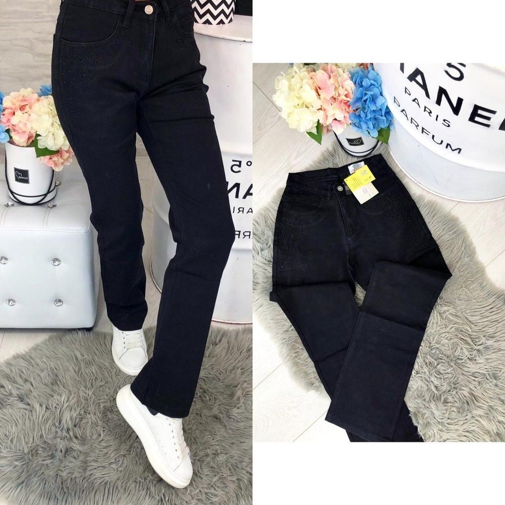 327a71a0f899d Женские черные джинсы батал, цена 180 грн - купить Джинсы и штаны ...