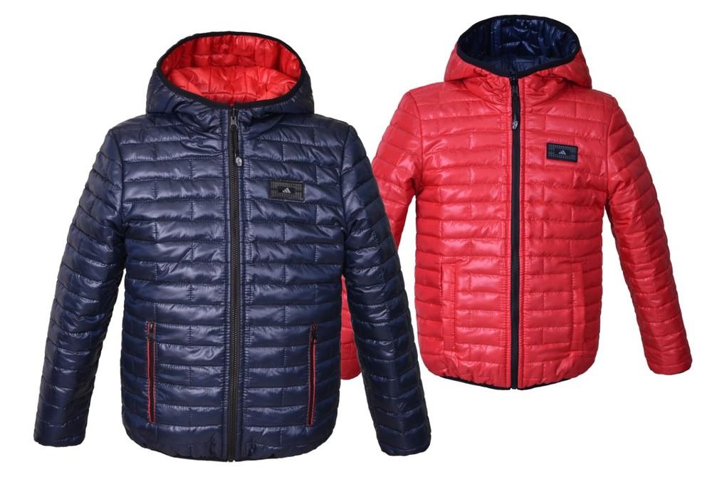 Двухсторонняя демисезонная куртка для мальчика фото №1