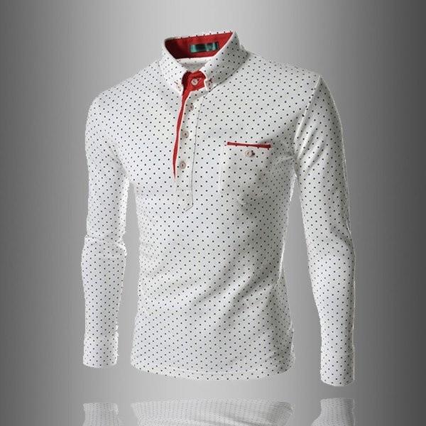 Рубашка в горошек m- xxl белая фото №1
