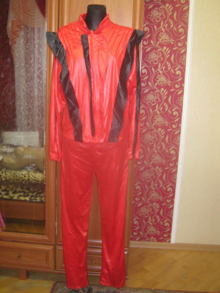 Карнавальний костюм червоний ,розмір l-xl/52 фото №1