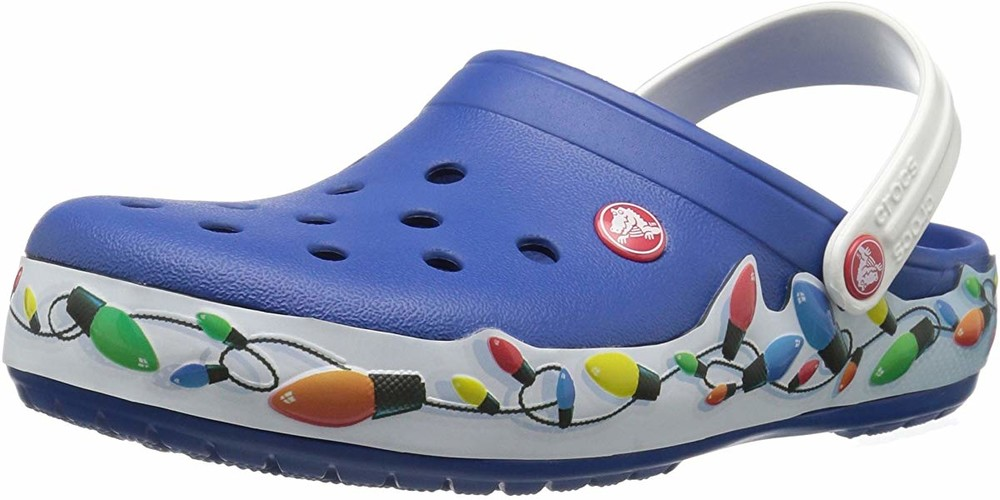 Кроксы crocs crocband holiday lights blue clogs с11 оригинал фото №1