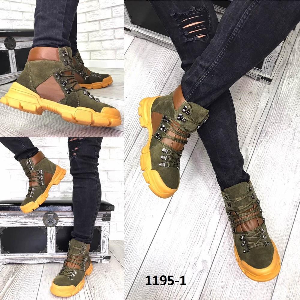 Деми ботинки,очень стильные  в стиле gu-ci. фото №1