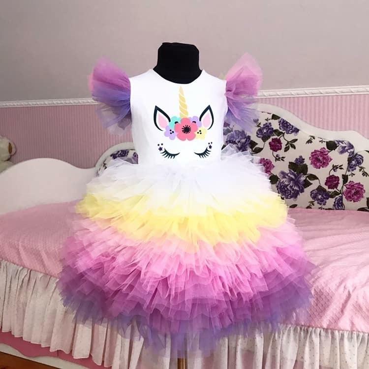 Платье единорог фото №1