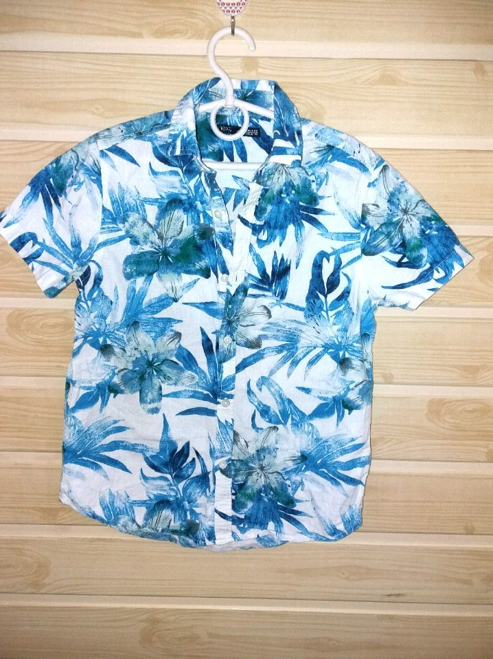 Фирменная летняя рубашка 9л next фото №1