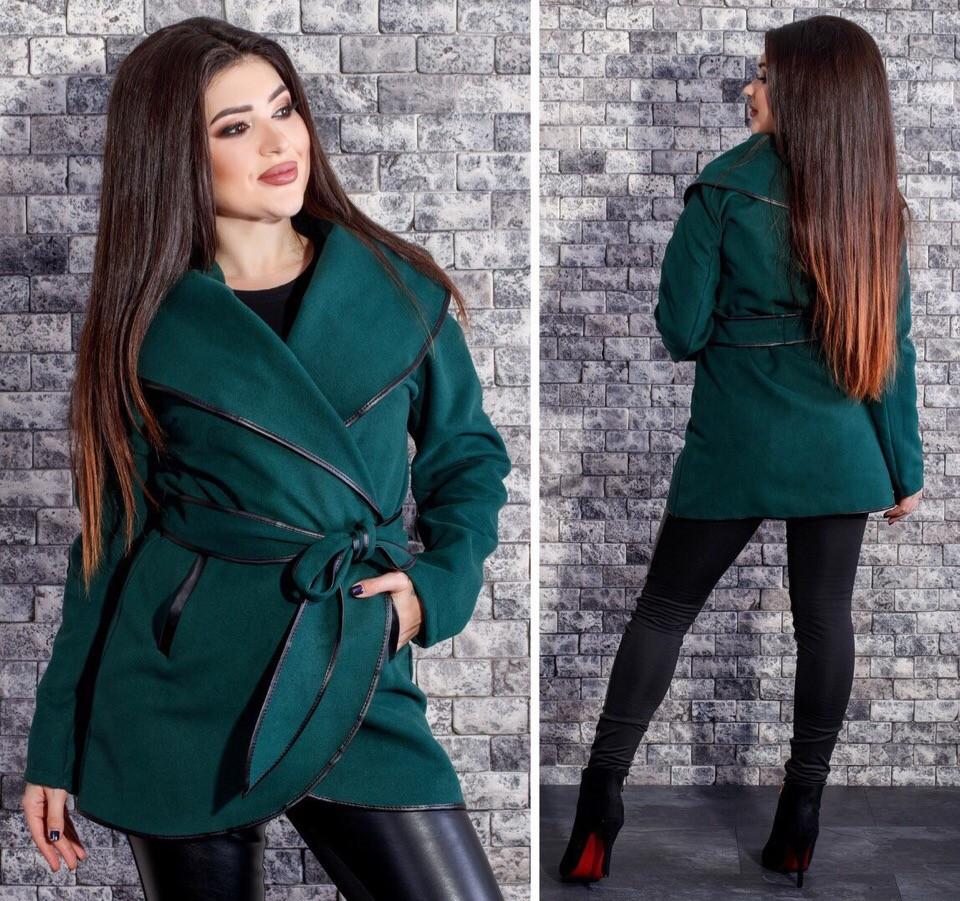 ткани на пальто бежевый с зеленым фото снялась