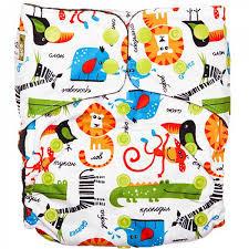 Gloryes многоразовый подгузник памперс classic plus сафари+ 3 вкладыша фото №1