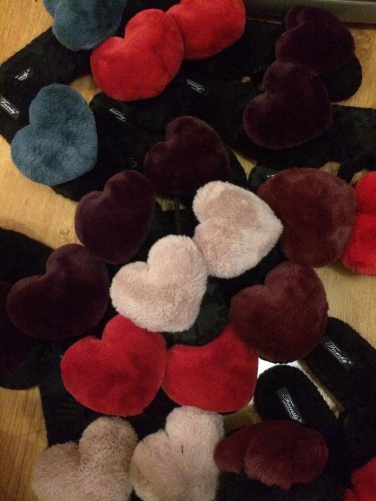 Тапочки сердце! шикарный и полезный подарок! фото №1