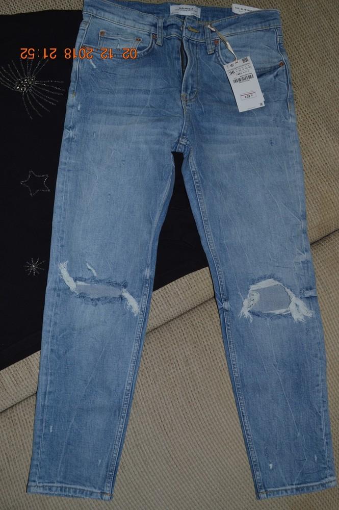 Нові жіночі джинси бойфренди zara розм. 36 в наявності фото №1