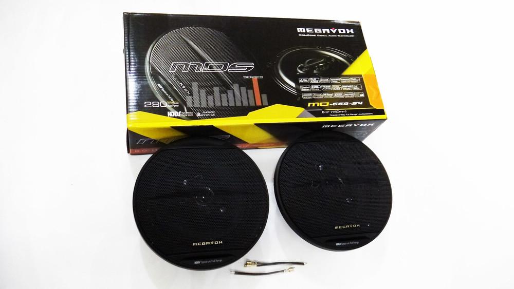 Автомобильная акустика 16см megavox md-669-s4 280w 4х полосные фото №1