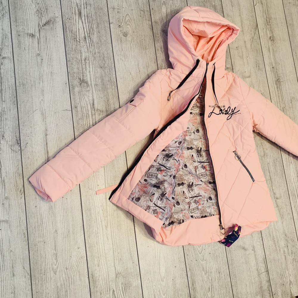 Весенняя куртка на девочку размеры 134-152, коллекция весна 2019 фото №1