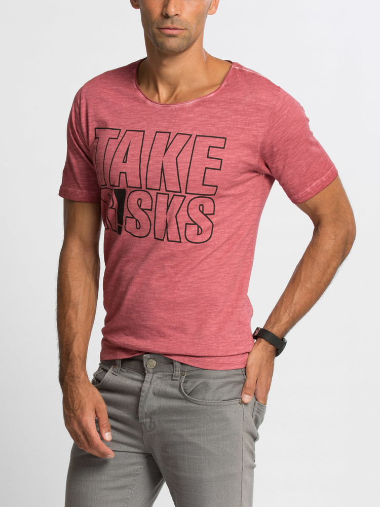 66e5e5182fb2d Мужская футболка lc waikiki / лс вайкики take risks, цена 257 грн ...