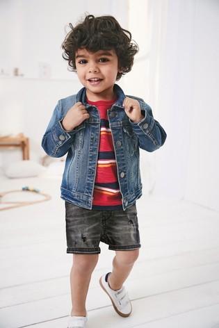 Стильна джинсова куртка next для хлопців розм. 0-7 р. під замовлення фото №1