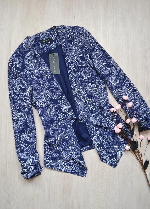 Крутой асимметричный жакет пиджак new look new фото №1