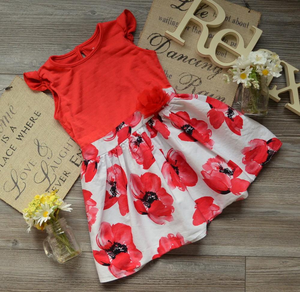 Платье пышное с маками nutmeg (2-3г)- фото №1