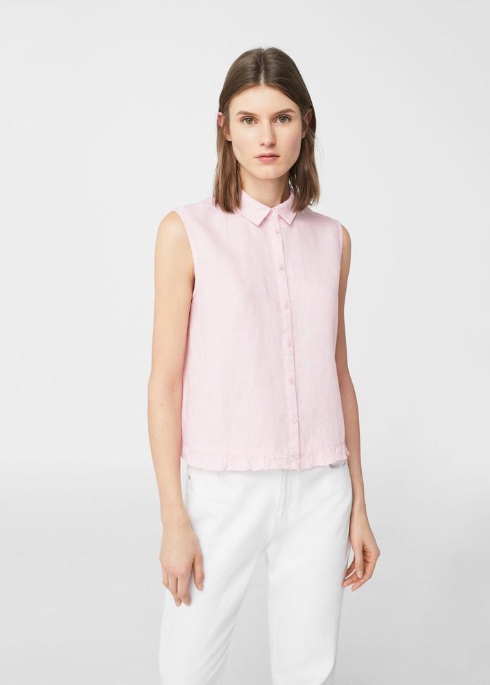 Очень нежная блуза из льна из последней коллекции mango, p. m фото №1
