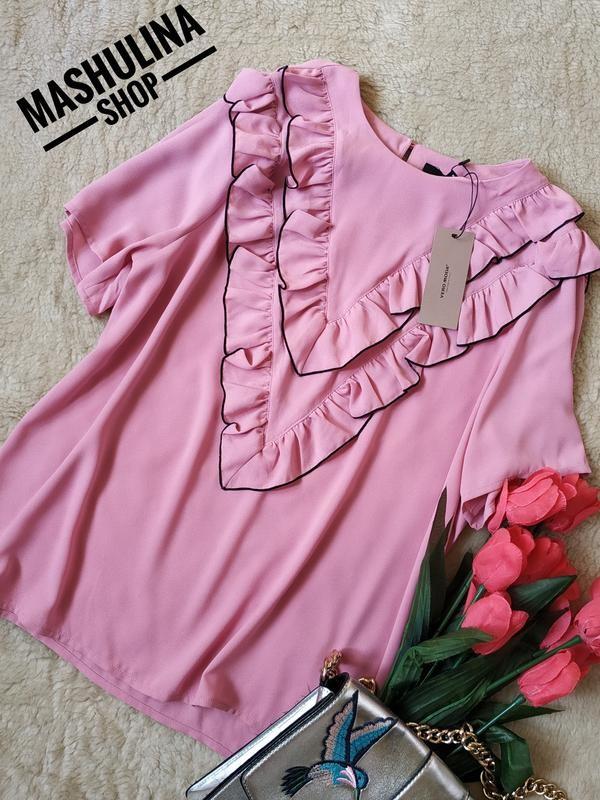 Красивейшая новая блуза с рюшами фирмы vero moda. сток. фото №1