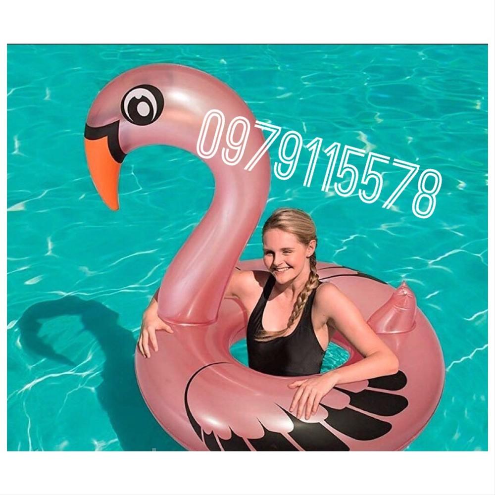 Новинка 2019 надувной круг перламутровый фламинго с ручками 165 см фото №1