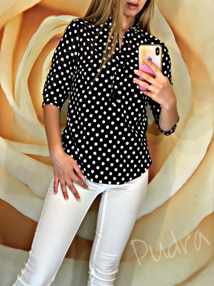 Женская блуза в горох. фото №1