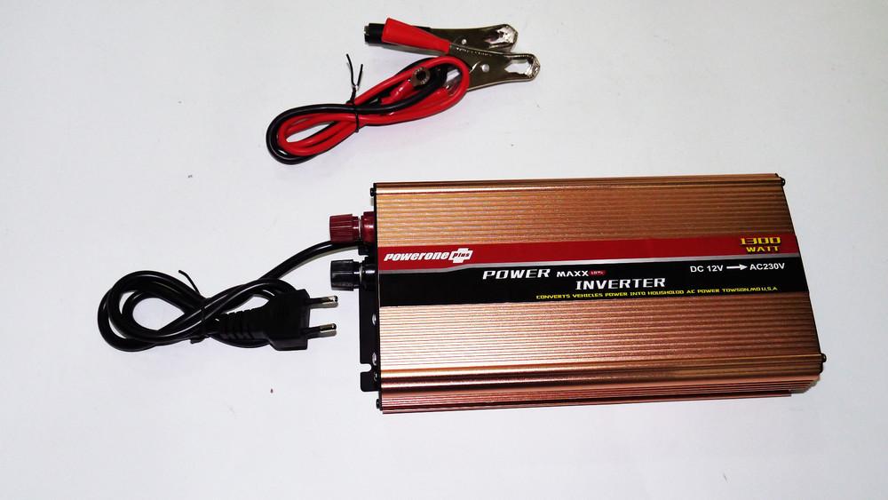 Инвертор powerone 1300w с зарядкой 12v220v  преобразователь фото №1