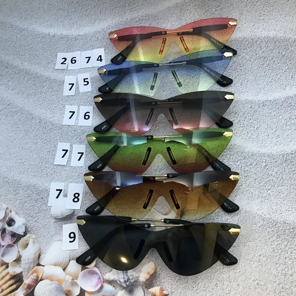 Трендоые солнцезащитные очки с цветными линзами фото №1
