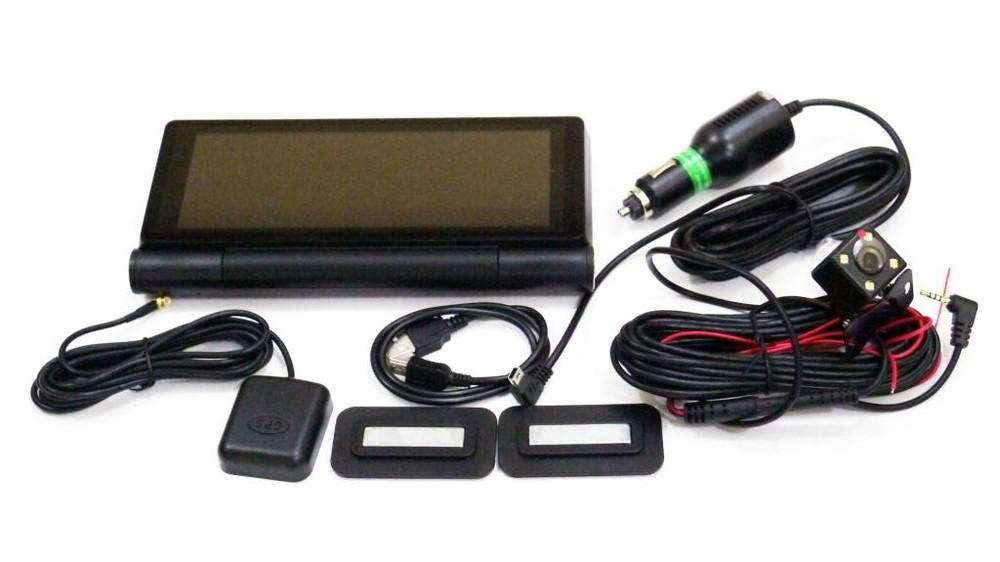 """Dvr 8618 видеорегистратор на торпеду - 2 камеры / gps  / 7"""" ips экран / 4ядра / 8gb / 1gb ram фото №1"""