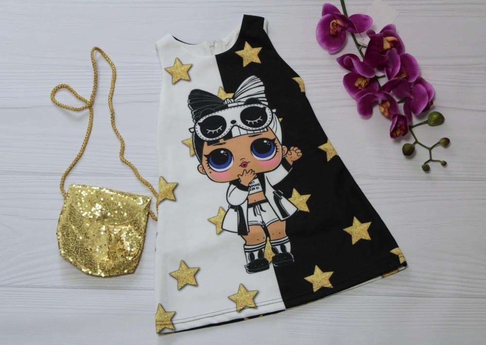 Платье для девочки lol c сумочкой фото №1